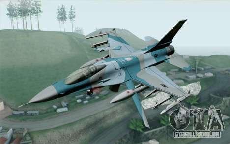F-16C Fighting Falcon Aggressor BlueGrey para GTA San Andreas