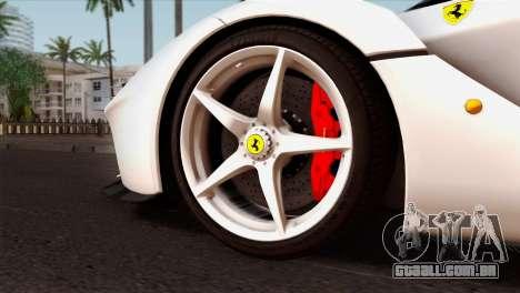 Ferrari LaFerrari 2015 para GTA San Andreas traseira esquerda vista