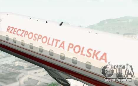 Embraer EMB-175 Republic Of Poland para GTA San Andreas vista direita