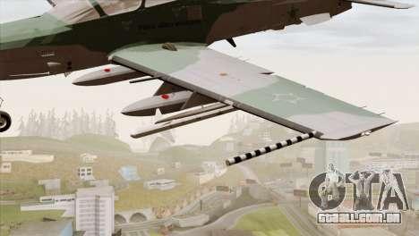 Embraer A-29B Super Tucano FAB para GTA San Andreas vista direita