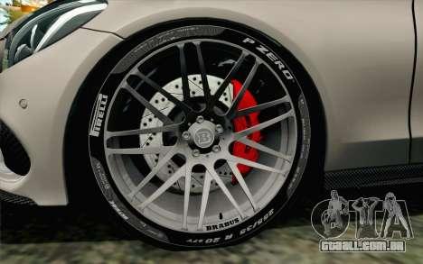 Mercedes-Benz C250 AMG Brabus Biturbo Edition para GTA San Andreas traseira esquerda vista