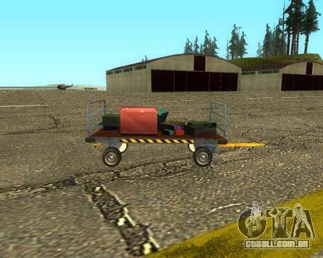 New Bagbox B para GTA San Andreas traseira esquerda vista