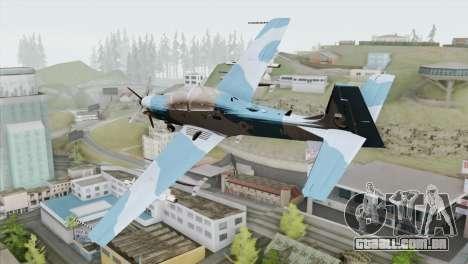 Embraer A-29B Super Tucano Navy Blue para GTA San Andreas esquerda vista