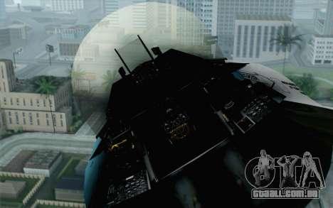 F-16C Fighting Falcon Aggressor BlueGrey para GTA San Andreas vista traseira