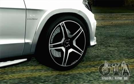 Mercedes-Benz GL63 AMG 2014 para GTA San Andreas traseira esquerda vista