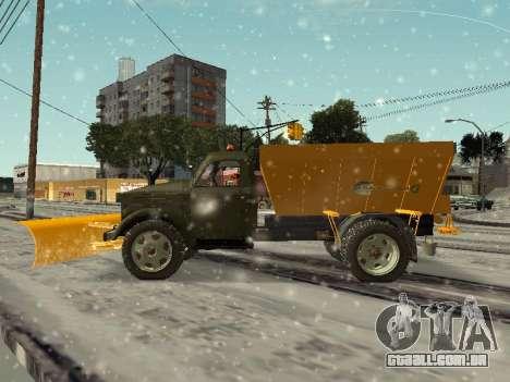 GÁS 51 snowblower para GTA San Andreas esquerda vista