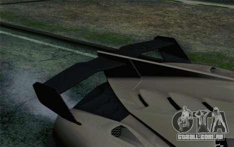 NFS Rivals Lamborghini Veneno para GTA San Andreas vista traseira