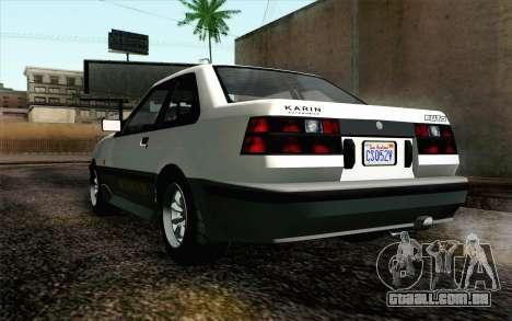 GTA 5 Karin Futo IVF para GTA San Andreas vista traseira