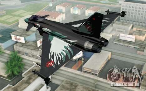 EuroFighter Typhoon 2000 Black Hawk para GTA San Andreas esquerda vista