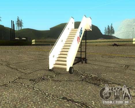 New Tugstair Fly US para GTA San Andreas traseira esquerda vista