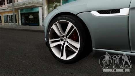 Jaguar F-Type para GTA San Andreas traseira esquerda vista