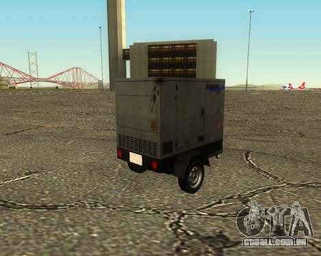 Multi Utility Trailer 3 in 1 para GTA San Andreas vista interior