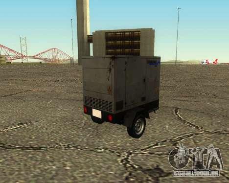 Multi Utility Trailer 3 in 1 para GTA San Andreas vista interior
