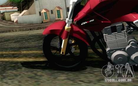 Honda Twister 250 v2 para GTA San Andreas traseira esquerda vista