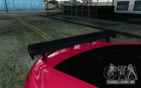 Honda Civic SI 2013 para GTA San Andreas vista traseira