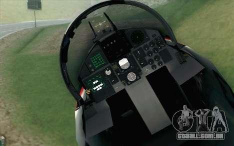 F-15J Kai 60th Anniversary of JASDF para GTA San Andreas vista traseira