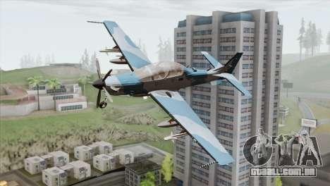 Embraer A-29B Super Tucano Navy Blue para GTA San Andreas