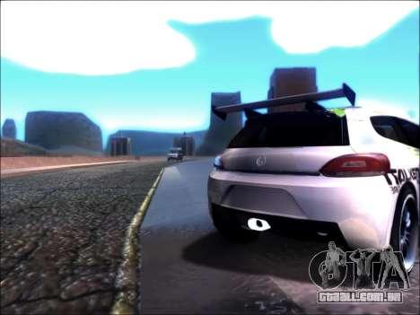 Volkswagen Scirocco Tunable para GTA San Andreas esquerda vista