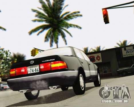 Toyota Celsior para vista lateral GTA San Andreas