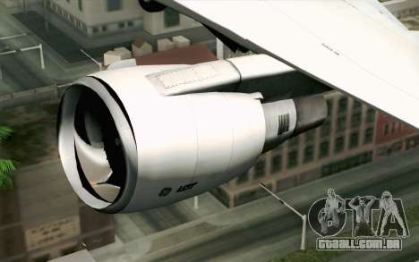 Boeing 767-300 PLL LOT para GTA San Andreas vista traseira