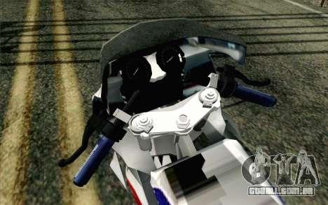 Yamaha RZR 135 Drag para GTA San Andreas vista traseira
