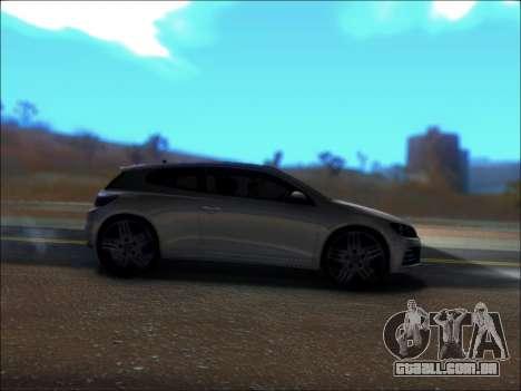 Volkswagen Scirocco Tunable para GTA San Andreas vista traseira