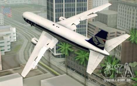 Boeing 767-300 PLL LOT para GTA San Andreas esquerda vista