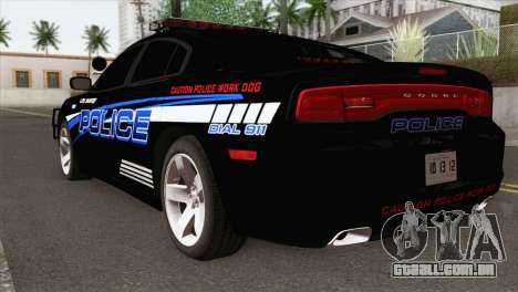 Dodge Charger 2013 LSPD para GTA San Andreas esquerda vista