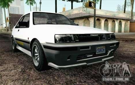 GTA 5 Karin Futo IVF para GTA San Andreas
