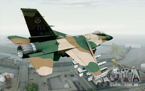 F-16C Fighting Falcon Aggressor 272 para GTA San Andreas esquerda vista