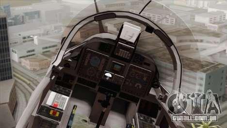 Embraer A-29B Super Tucano Low Visibility para GTA San Andreas vista traseira