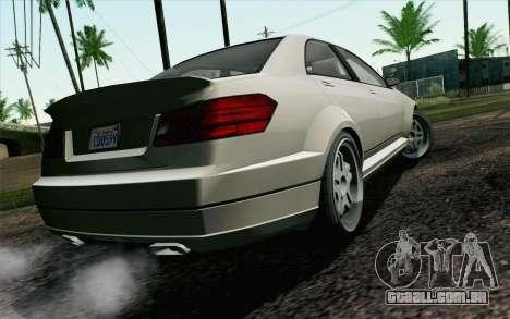 GTA 5 Benefactor Schafter IVF para GTA San Andreas esquerda vista