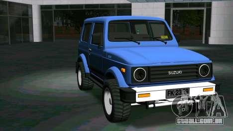 Suzuki Samurai para GTA San Andreas vista traseira