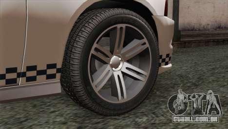 Dodge Charger SXT Premium 2014 para GTA San Andreas traseira esquerda vista