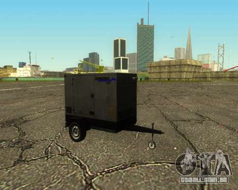 Multi Utility Trailer 3 in 1 para GTA San Andreas vista traseira