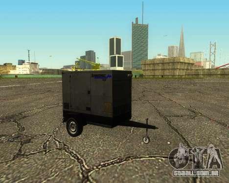 Multi Utility Trailer 3 in 1 para GTA San Andreas vista traseira