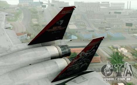 F-15J Kai 60th Anniversary of JASDF para GTA San Andreas traseira esquerda vista