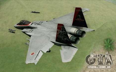 F-15J Kai 60th Anniversary of JASDF para GTA San Andreas esquerda vista