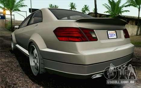GTA 5 Benefactor Schafter IVF para GTA San Andreas vista direita