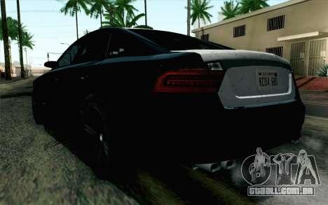 GTA 5 Karin Kuruma v2 SA Mobile para GTA San Andreas esquerda vista
