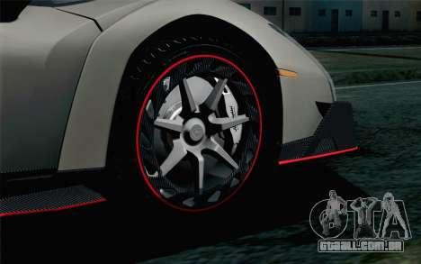 NFS Rivals Lamborghini Veneno para GTA San Andreas traseira esquerda vista