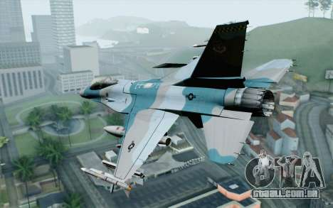 F-16C Fighting Falcon Aggressor BlueGrey para GTA San Andreas esquerda vista