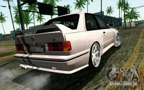 BMW M3 E30 2015 para GTA San Andreas esquerda vista