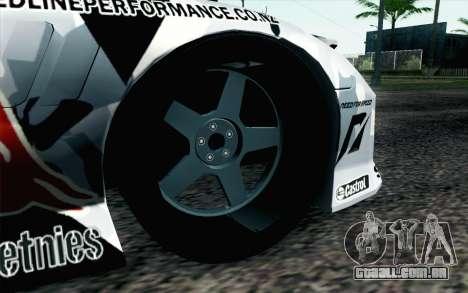 Mazda RX-7 MadMike para GTA San Andreas traseira esquerda vista