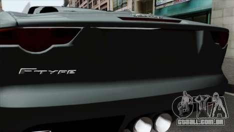 Jaguar F-Type para GTA San Andreas vista traseira