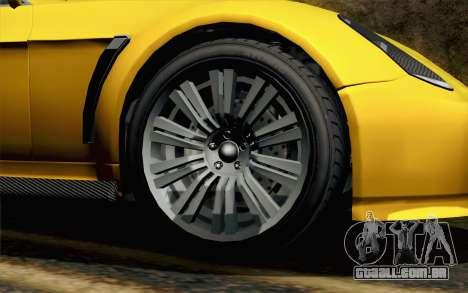 GTA 5 Dewbauchee Exemplar para GTA San Andreas traseira esquerda vista