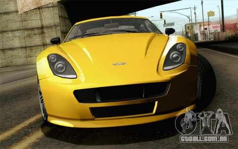 GTA 5 Dewbauchee Exemplar para GTA San Andreas vista traseira