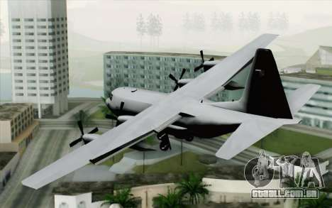 C-130H Hercules Polish Air Force para GTA San Andreas esquerda vista