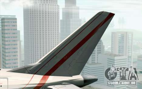 Embraer EMB-175 Republic Of Poland para GTA San Andreas traseira esquerda vista