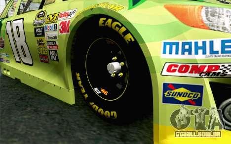 NASCAR Toyota Camry 2013 v4 para GTA San Andreas traseira esquerda vista
